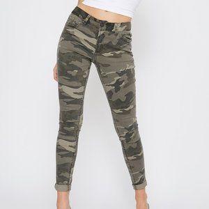 Refuge Camo Mid-Rise Boyfriend Skinny Jeans